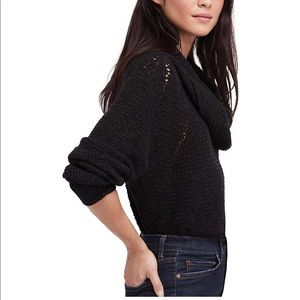Free People By Your Side Sweater Black